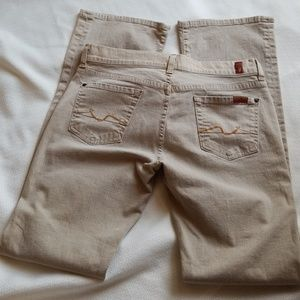 7 For All Mankind tan color jeans, sz 30